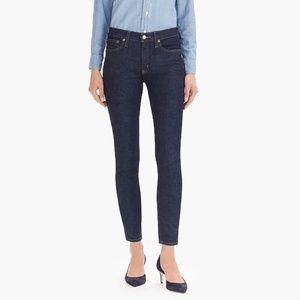J Crew Toothpick Jeans High Waist Dark Wash 28